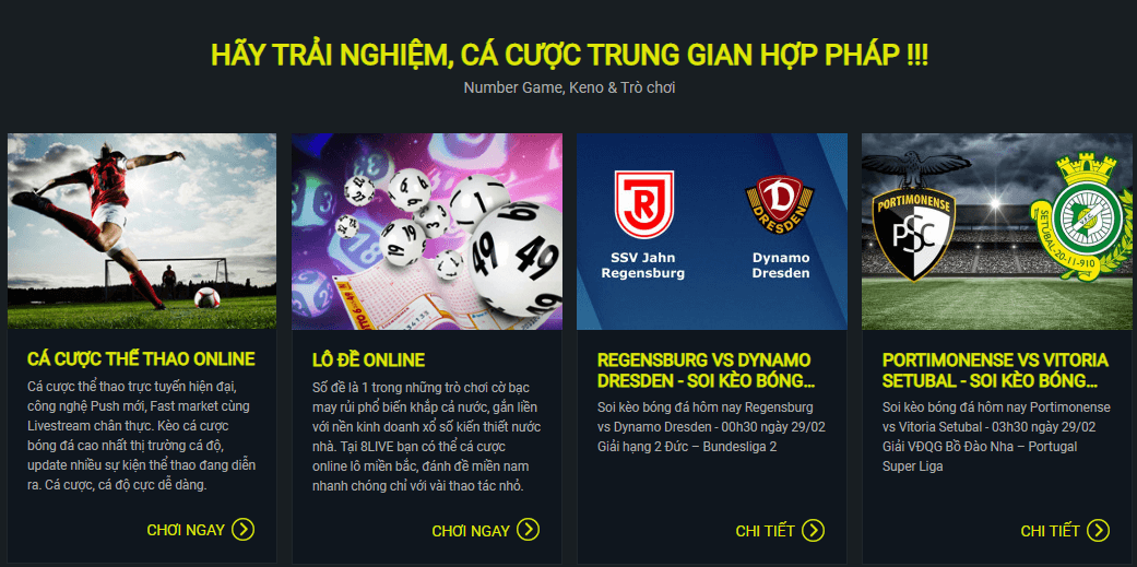 Hệ thống game 8live